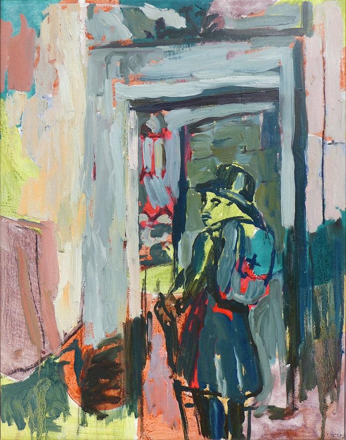 """Martin Enderlein """"Der Wanderer (Abschied)"""" Acryl- und Ölfarbe auf Leinwand, 2017"""